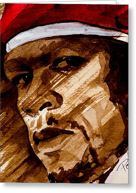 Eminem Paintings Greeting Cards - Get rich or die tryin Greeting Card by Laur Iduc
