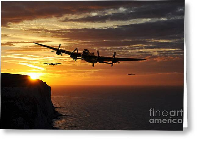 617 Squadron Greeting Cards - Get The Breakfast On  Greeting Card by J Biggadike