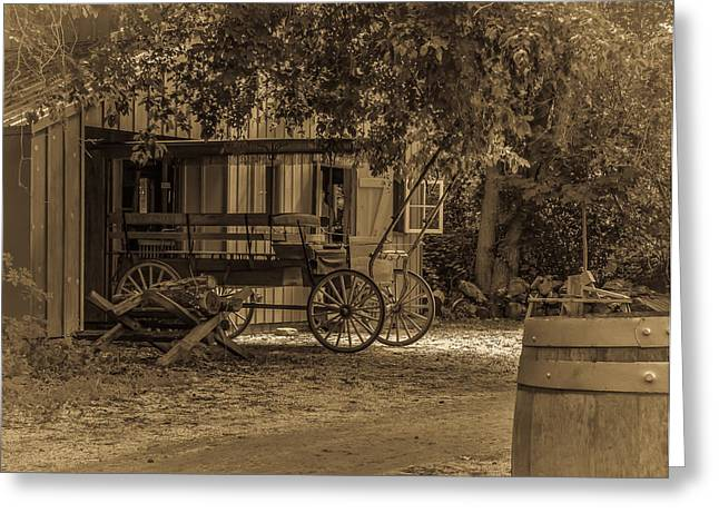 Historic Country Store Digital Art Greeting Cards - Get the Horse Greeting Card by Capt Gerry Hare