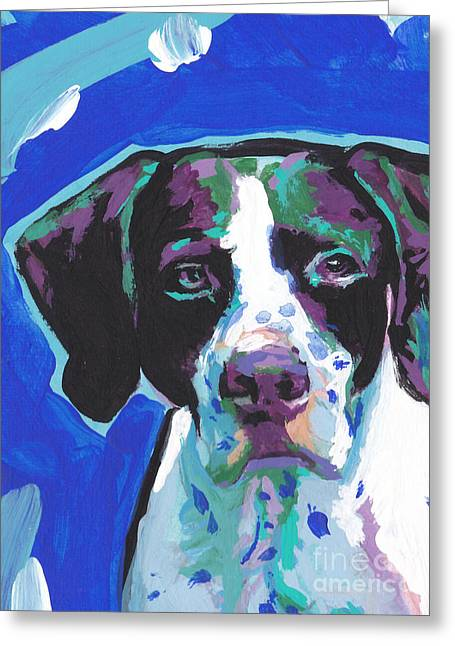 Pointer Greeting Cards - Get To The Point Greeting Card by Lea
