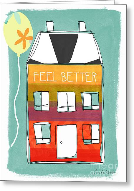 Striped Mixed Media Greeting Cards - Get Well Card Greeting Card by Linda Woods