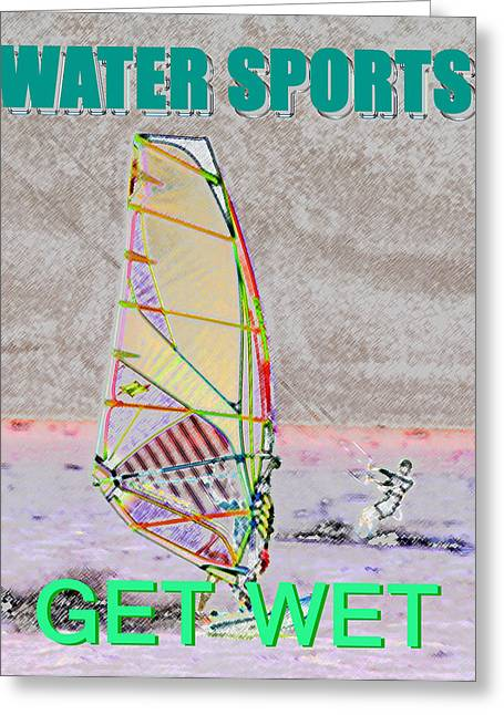 Get Wet Water Sports Greeting Card by David Lee Thompson