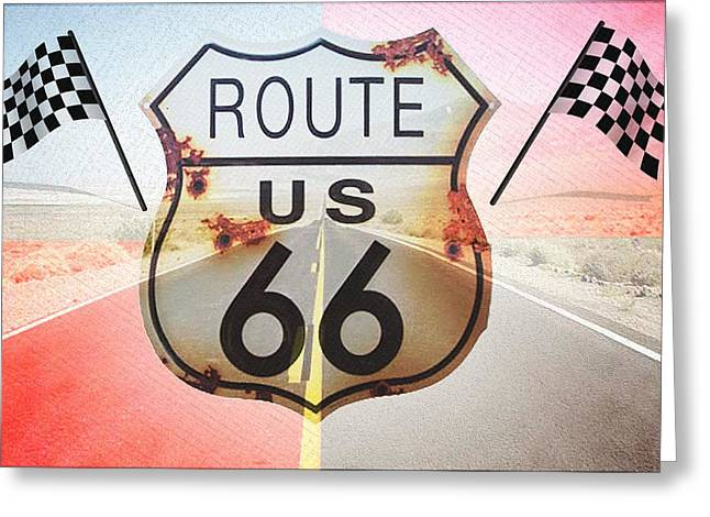 Get Greeting Cards - Get Your Kicks On Route 66 Greeting Card by Bill Cannon