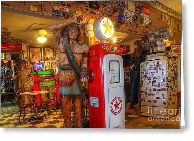 Hackberry Greeting Cards - Get Your Kicks On Route 66 Greeting Card by Bob Christopher