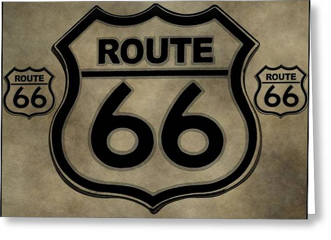 Scenic Drive Greeting Cards - Get Your Kicks On Route 66 Greeting Card by Dan Sproul