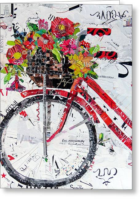 Torn Paintings Greeting Cards - Get Your Spring Fix Greeting Card by Suzy Pal Powell