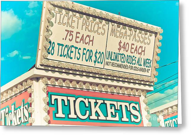 Original Photographs Greeting Cards - Get Your Tickets Greeting Card by Colleen Kammerer