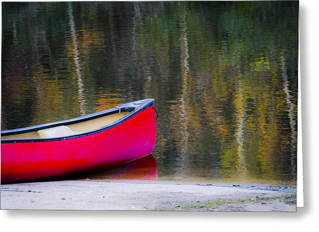Living Life Photography Greeting Cards - Getaway Canoe Greeting Card by Carolyn Marshall