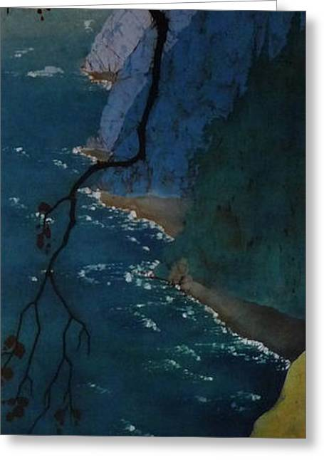 Cliffs Tapestries - Textiles Greeting Cards - Geting Lost 2 Greeting Card by Shasha Shaikh