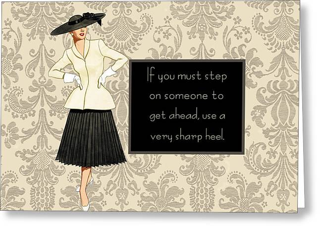 Humorous Greeting Cards Greeting Cards - Getting ahead... Greeting Card by Marilu Windvand