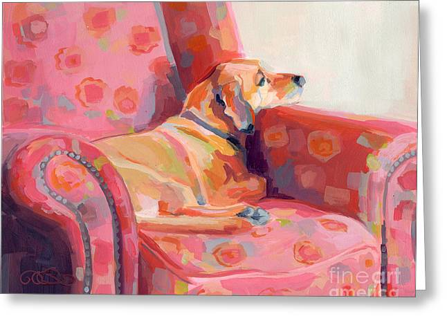 Getting Cozy Greeting Card by Kimberly Santini