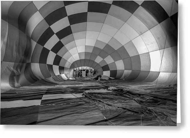 Inflation Greeting Cards - Getting Inflated-BW Greeting Card by Tom Weisbrook