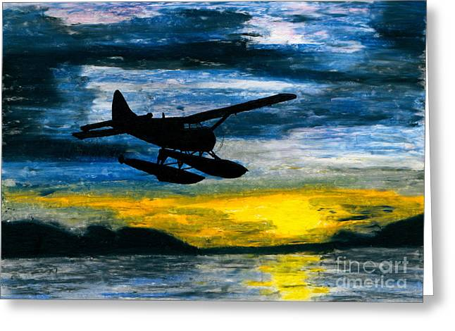 Propeller Paintings Greeting Cards - Getting Late Greeting Card by R Kyllo