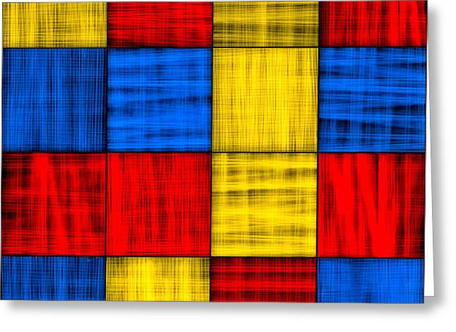 Getting Lost At The Intersection - Abstract Greeting Card by Mark E Tisdale