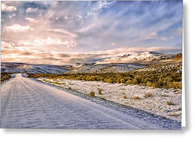 Washoe County Greeting Cards - Getting out of Dodge Greeting Card by Kathleen Bishop