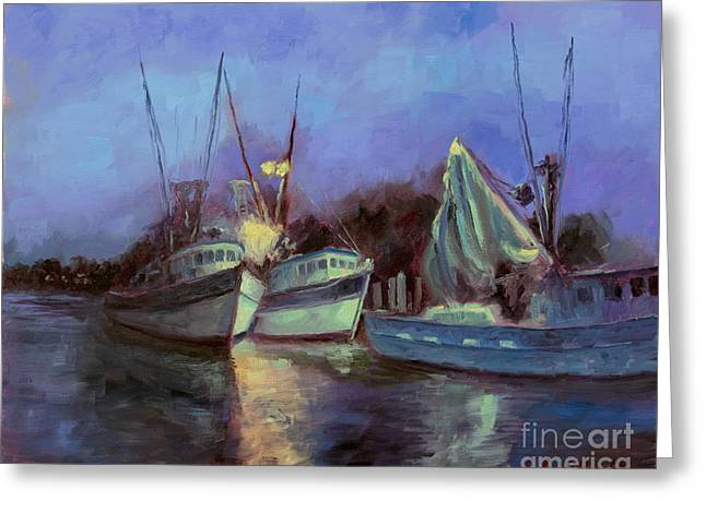 Fishing Creek Paintings Greeting Cards - Getting Ready Greeting Card by John Albrecht