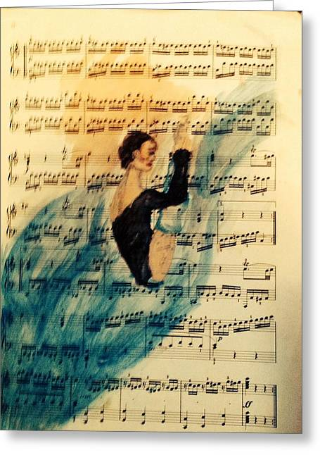 Ballet Dancers Greeting Cards - Getting Ready Greeting Card by Sarah Brown