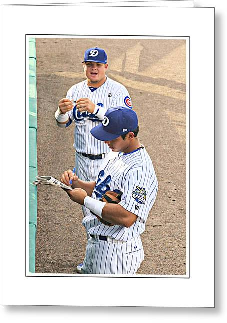 Autographed Baseball Greeting Cards - Getting The Autograph Greeting Card by Alice Gipson