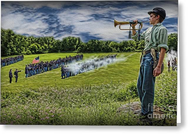 The General Lee Photographs Greeting Cards - Gettysburg Battle Hymn - The Civil War  Greeting Card by Lee Dos Santos