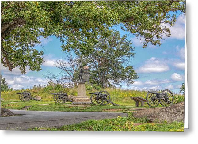 Devils Den Greeting Cards - Gettysburg Battlefield 4th New York  Greeting Card by Randy Steele
