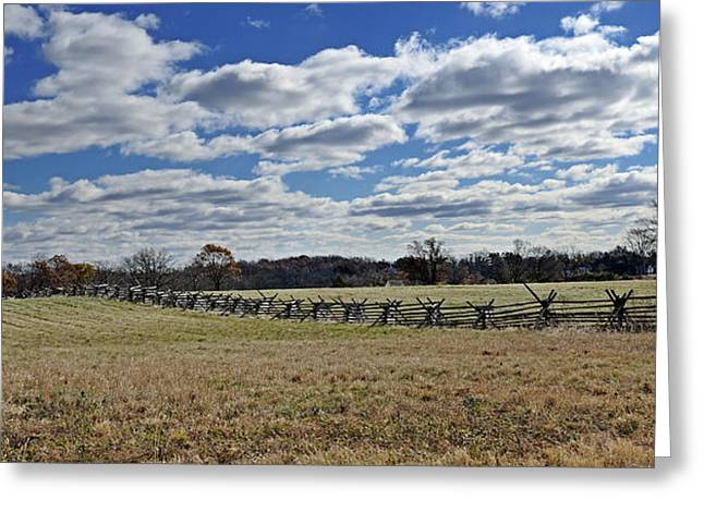 Civil War Site Photographs Greeting Cards - Gettysburg Battlefield - Pennsylvania Greeting Card by Brendan Reals