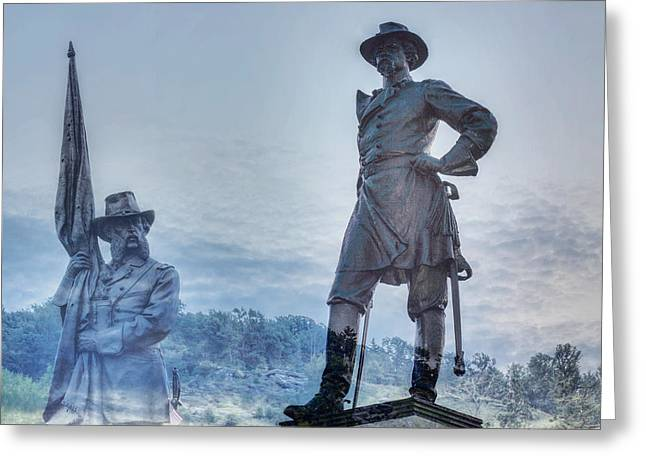 Gettysburg Battlefield Statues Greeting Card by Randy Steele