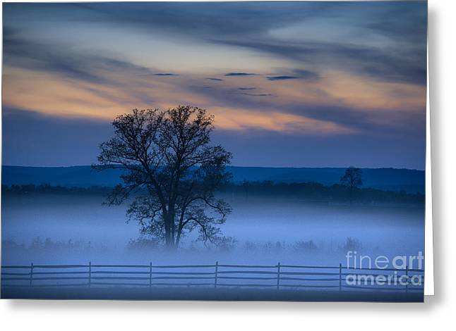 Fieldstone Greeting Cards - Gettysburg Blues Greeting Card by John Greim