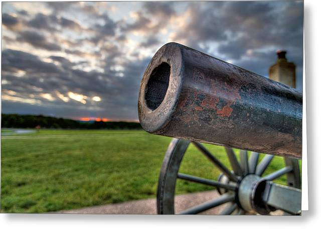 Battleground Greeting Cards - Gettysburg Canon Closeup Greeting Card by Andres Leon