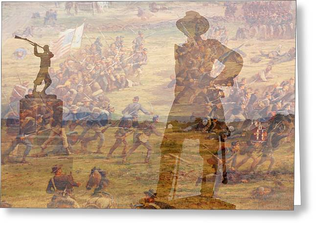 Confederate Monument Greeting Cards - Gettysburg Composite Image Greeting Card by Randy Steele
