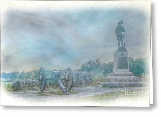 Devils Den Greeting Cards - Gettysburg Devils Den Cannon Greeting Card by Randy Steele