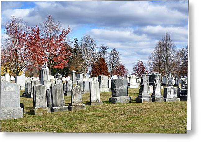 Gettysburg National Cemetery Greeting Card by Brendan Reals
