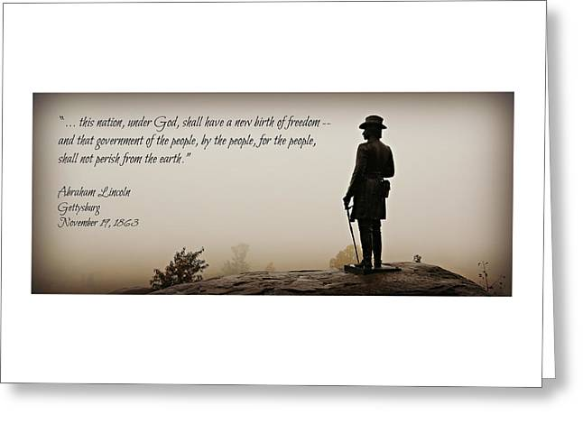 Gettysburg Address Greeting Cards - Gettysburg Remembrance Greeting Card by Stephen Stookey