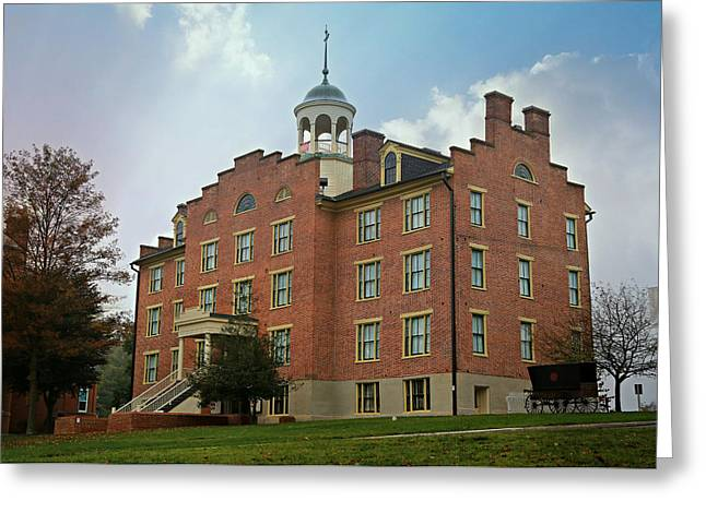 Civil War Site Greeting Cards - Gettysburg Schmucker Hall Greeting Card by Stephen Stookey