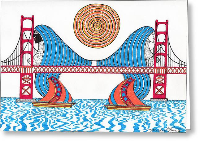 Buildings By The Ocean Greeting Cards - G.G. Hair Waves Greeting Card by Michael Friend