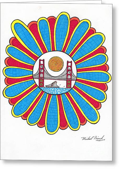 Buildings By The Ocean Greeting Cards - G.G. in Center of Flower Greeting Card by Michael Friend