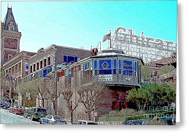 Ghirardelli Chocolate Greeting Cards - Ghirardelli Chocolate Factory San Francisco California 7D14093 Artwork Greeting Card by Wingsdomain Art and Photography