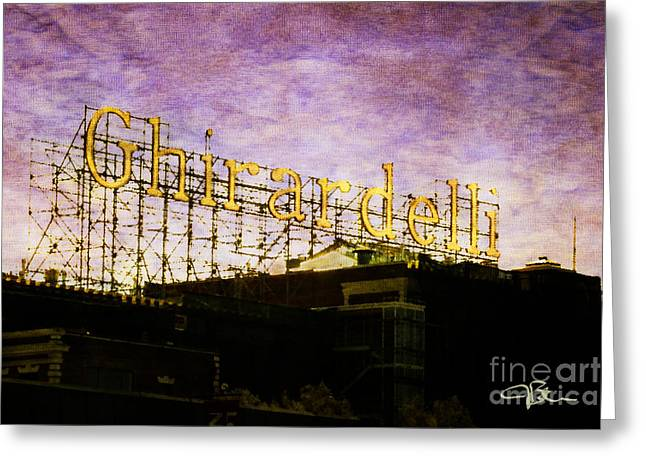 Ghirardelli Chocolate Factory Greeting Cards - Ghirardelli Square Fishermans Wharf San Francisco California Greeting Card by Jani Bryson