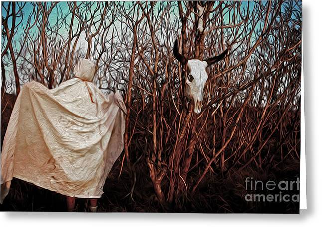 Ghost Attack Greeting Card by Gregory Dyer