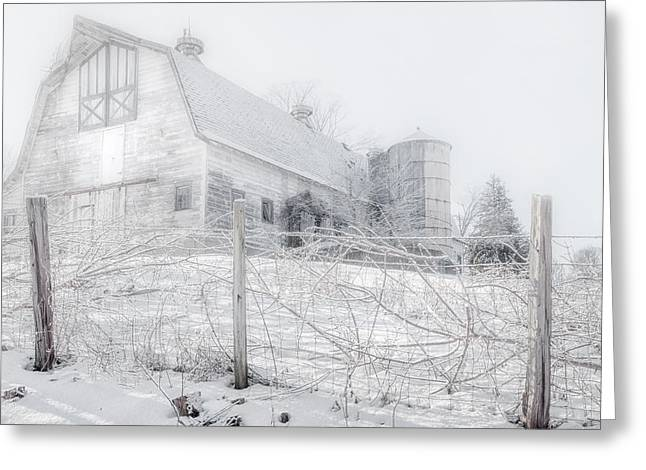 Barns Greeting Cards - Ghost Barn Greeting Card by Bill  Wakeley