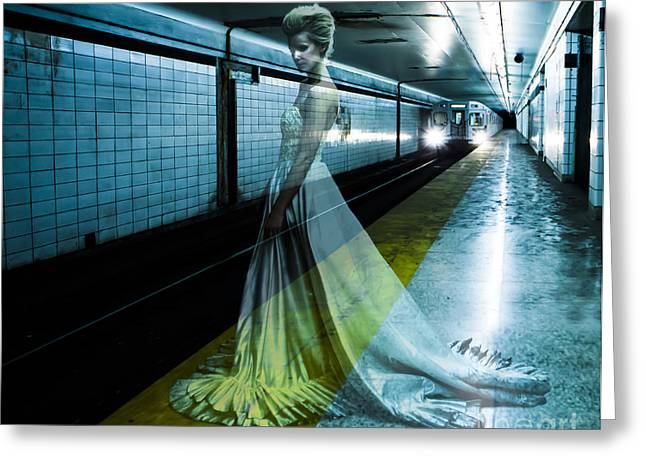 Underground Greeting Cards - Ghost Bride Greeting Card by Diane Diederich