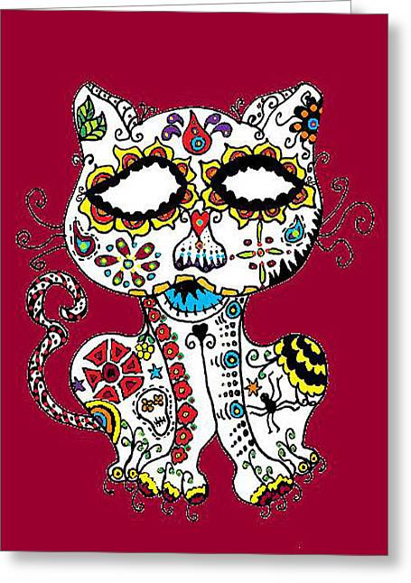 Cherie Sexsmith Greeting Cards - Ghost Cat Greeting Card by Cherie Sexsmith