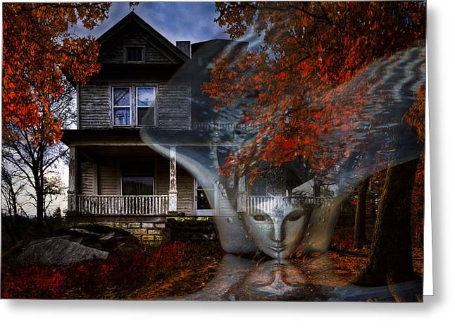 Tennessee Farm Greeting Cards - Ghost Greeting Card by Debra and Dave Vanderlaan