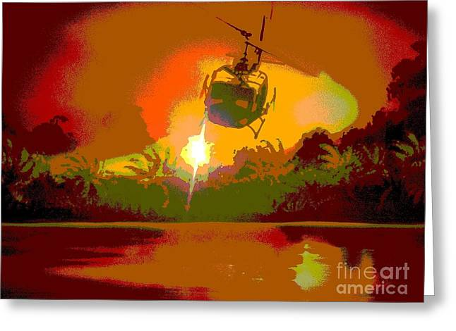 Francis Ford Coppola Greeting Cards - Ghost Huey Apocalypse  Greeting Card by William Gruendler