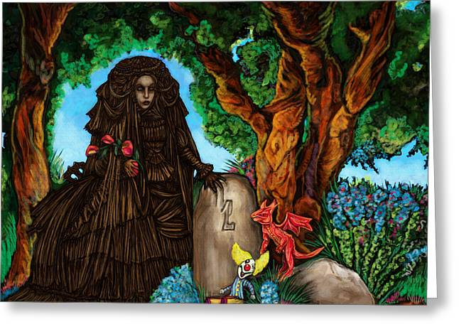 Ghastly Greeting Cards - Ghost in CandyLand Greeting Card by Lisa Bethan
