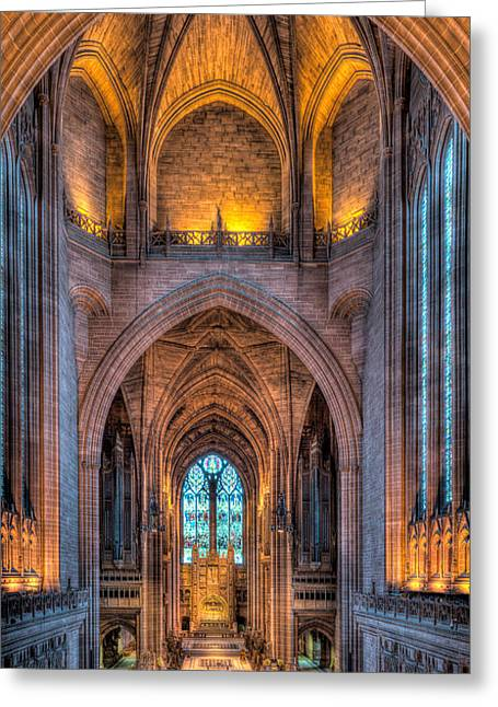 People Digital Art Greeting Cards - Ghost in the Cathedral Greeting Card by Adrian Evans