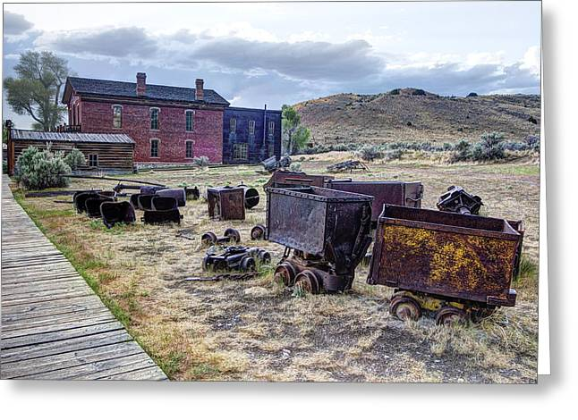 Vigilantes Greeting Cards - GHOST MINING TOWN of MONTANA Greeting Card by Daniel Hagerman