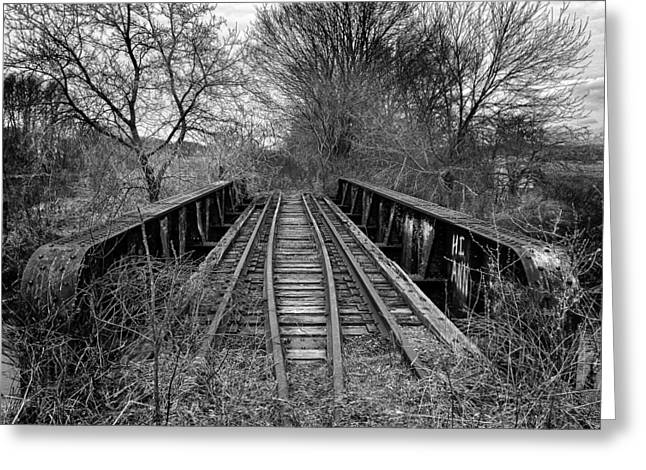 Rural Greeting Cards - Ghost of a steel trestle Greeting Card by Chris Bordeleau