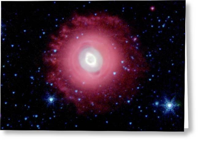 Ghost Of Jupiter Greeting Card by Nasa/jpl-caltech/j. Hora (harvard-smithsonian Cfa)