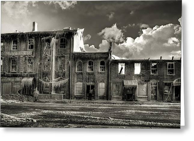 Historical Buildings Photographs Greeting Cards - Ghost of Our Town Greeting Card by Jaki Miller