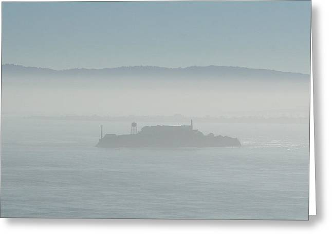 Alcatraz Pyrography Greeting Cards - Ghost of the Past Greeting Card by DUG Harpster